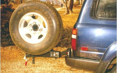 Replacement 2″ receiver and swing out-tire carrier